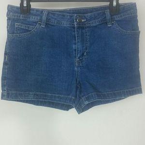 Shorts Jean blue denim short high-waisted rise